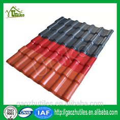 Worldwide Strong Fire Resistance Roof Tiles Price Synthetic Resin Synthetic  Spanish Roof Tile