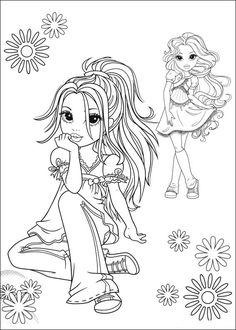 Moxie Girlz Tegninger til Farvelægning 9