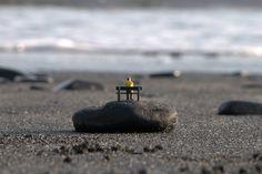a day at a black sand beach