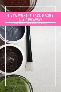 Giveaway + 4 Spa Worthy Face Masks #naturalbeauty #facial #mymaskedbeauty