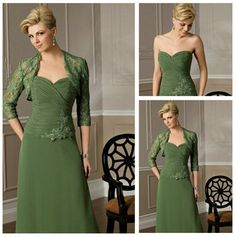 Hot Sale Mother&-39-s Dresses Chiffon With long Sleeves 3pc Sequins ...