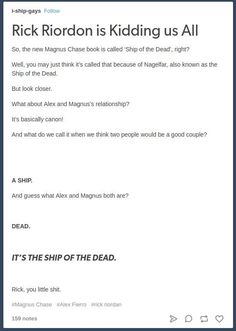 Just a bunch of cool Magnus Chase one-shots because my readers wanted me to do it! I hope you like them! Ships in this...