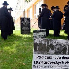 Jewish supporters visit the Jewish cemetery in Prostejov, Czech Republic