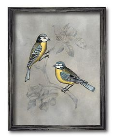 Take a look at this Blue & Yellow Bird Framed Wall Art today!