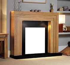 Oak Wood Mantel Only. Suitable for Gas or Electric Fires Approximate Dimensions: H 43' x W 47' Sale Price!!