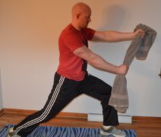 10 Minute Towel Isometric exercises - body build without heavy weights!