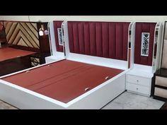 Box Bed Design, Bedroom Bed Design, Bedroom Furniture Design, Home Room Design, Bed Furniture, Home Decor Furniture, Sofa Design, Bed Designs India, Latest Bed