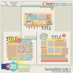 Incredible Life 1 Templates by JB Studio