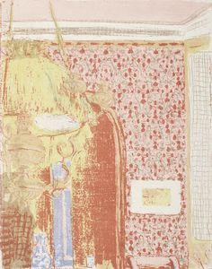 Vuillard, Edouard Interior with Pink Wallpaper III (Interieur aux tentures roses III) c. 1896 (published color lithograph on china paper Van Gogh Museum, Edouard Vuillard, Henri Rousseau, Henri Matisse, Vincent Van Gogh, Raoul Dufy, Foundation, National Gallery Of Art, Paul Gauguin