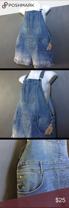 Overall Jean Shorts You are purchasing a cute pair of overall shorts. You will love them. Your order will arrive fast and in perfect packaging. American Rag Shorts