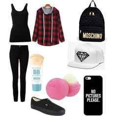 A fashion look from August 2015 by lovedanya featuring Theory, T By Alexander Wang, Vans, Moschino, Casetify, Maybelline and Eos