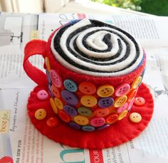 Too cute, and it is a pincushion