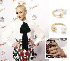 Gwen Stefani - Wearing our Pearl Spike Ring - http://stelladot.com/maggiev