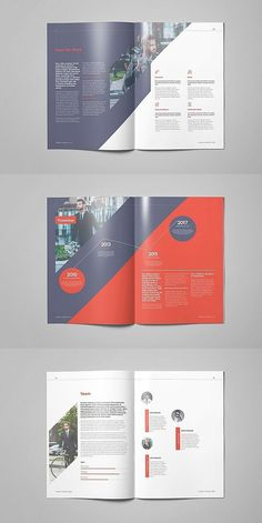 Explore more than ready to use brochure design templates for pamphlets, proposals, reports, and manuals in a variety of styles. Graphic Design Brochure, Brochure Layout, Brochure Template, Report Template, Brochure Ideas, Indesign Templates, Templates Free, Corporate Brochure Design, Company Brochure