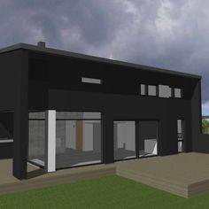 moderni puutalo, Oulu, pientalo, asuinrakennus
