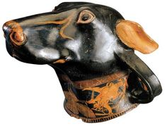Dog's head rhyton from Athens. 5th century BC