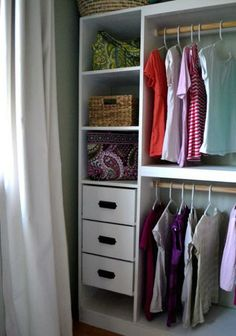 Drawers still seem a bit scary but Love the organization here.  Esp the shoe cubbies!