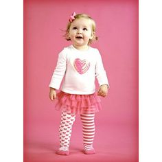 Heart Skirt Set by Mud piece set includes long sleeve cotton top with sequin heart applique and matching multi layered chiffon skirt with built in patterned tights. My Baby Girl, Baby Girl Newborn, Baby Girls, Toddler Girls, Toddler Stuff, Girly Girl, Valentine's Day Outfit, Outfit Of The Day, Savannah
