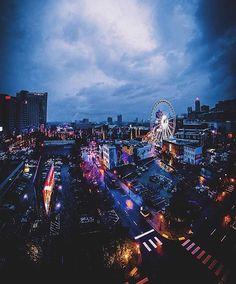 """Good night, Atlanta! [:@adamhartel] #weloveatl #exploregeorgia"""