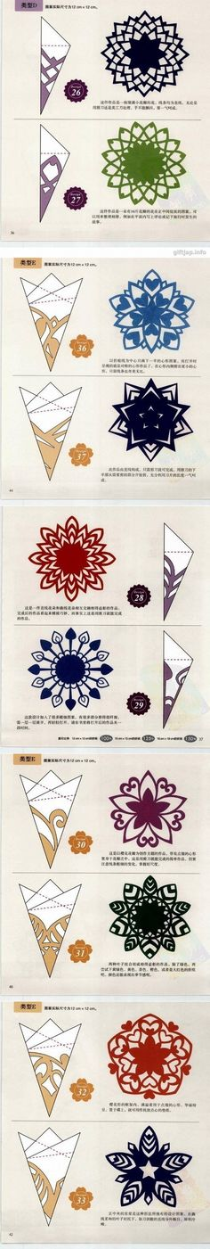 How to cut out snowflakes Paper Snowflake Designs, Snowflake Template, Paper Snowflakes, Paper Stars, Origami Paper, Diy Paper, Paper Crafts, Snow Flakes Diy, Quilling Paper Craft