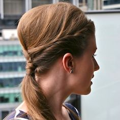 Learn to create this triple twist updo on yourself.