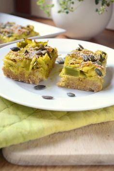 Tarte moelleuse poireaux flocons d'avoine vegan végétalien