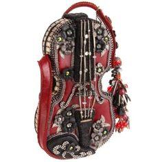 Mary Frances Floral Violin Shoulder Bag Mary Frances Purses, Mary Frances Handbags, Beaded Purses, Beaded Bags, Fancy Hands, Guitar Bag, Western Purses, Vintage Purses, Cute Bags