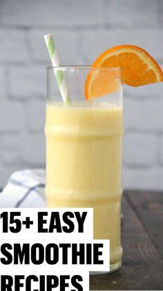 Mango Pineapple Smoothie, Carrot Smoothie, Watermelon Smoothies, Pumpkin Smoothie, Oatmeal Smoothies, Easy Smoothies, Fat Burning Smoothie Recipes, Fruit Smoothie Recipes, Milkshake Recipes