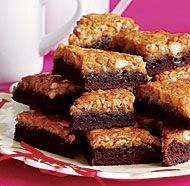 Macadamia Double-Decker Brownie Bars -- Fine Cooking