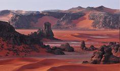 desert, Sahara, Algeria, Dune, Rock, Mountain, Red, Nature, Landscape, Women Outdoors, Women HD Wallpaper Desktop Background