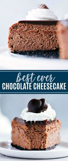 The ultimate best ever chocolate cheesecake with a chocolate-cookie base, smooth milk chocolate interior, an easy chocolate ganache | chelseasmessyapron.com | #chocolate #cheesecake #dessert #tips #tricks #baking #holiday #treat #GodivaMasterpieces #ad @Godiva