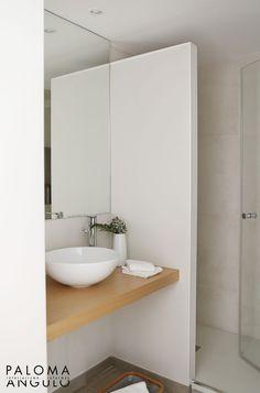 moderne badkamer met inloopdouche en wastafel op maat | het, Deco ideeën