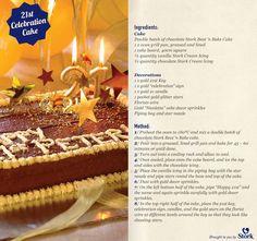 21st Celebration Cake #recipes Stork Recipes, Cake Recipes, Homemade Food, Homemade Cakes, Delicious Recipes, Yummy Food, Cake Board, Celebration Cakes, Let Them Eat Cake