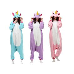 Unicorn Unisex Adult Pajamas Kigurumi Cosplay Costume Animal Onesie Sleepwear #Unbranded #pajama