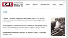 Hemos hecho un proyecto de web para Construcciones mecánicas Castelló: web, diseño de imagen corporativa. Visita nuestra: www.cmcastello.com
