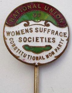 Enamel pin issued by the English National Union of Women's Suffrage Societies.