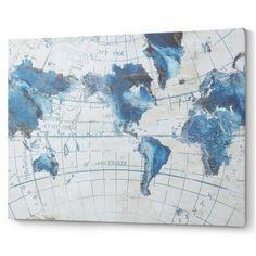 Настенная карта мира. Картина AA0616 - DOU 120X90 см цветная Laforma