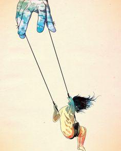 Girl Swinging On A Hand hand of god girl on swing