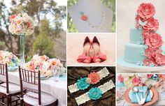 Aqua & Coral Wedding Inspirations | Lulus Event Design
