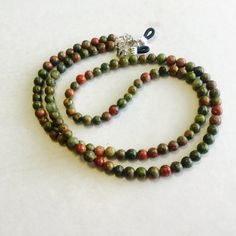 Check out Green Unakite Stone Eyeglass Chain, Sunglass chain, eyeglass holder, necklace on heavenlychains