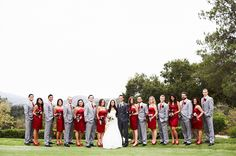 This red, black and grey wedding is probably one of the most beautiful ones I have ever seen.  Its worth checking out the other pictures.