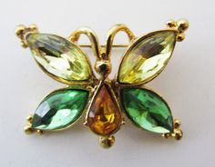 Whimsical Vintage 1960s Figural Citrine Topaz and by GildedTrifles