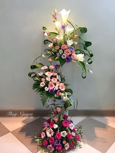 How to link the flowers of three arrangements