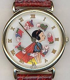 """1990 Pedre """"Snow White and the Seven Dwarfs"""" Motion Dial Limited Edition Watch Vintage Disney, Retro Vintage, Snow White 1937, Old Pocket Watches, Art Deco Watch, Vintage Watches Women, Magic Mirror, Limited Edition Watches, Vintage Guitars"""