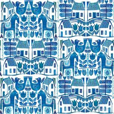 Blue Scandi von TRACEYENGLISH