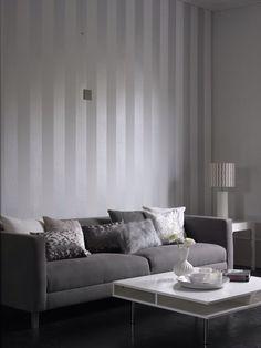 grey bedroom stripe metallic