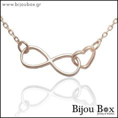 Bijou Box, Infinity Heart, Rose Gold Plates, Silver Necklaces, Sterling Silver, Bracelets, Watches, Jewelry, Bangles