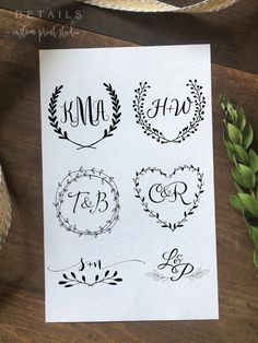 Custom Wedding Logo Design Create Your Own One by DetailsonDemand                                                                                                                                                                                 Mais