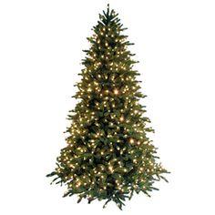 Holiday Living 9-ft Fir Pre-Lit Artificial Christmas Tree 700 ...