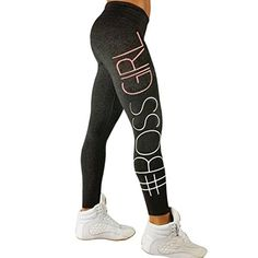 4081afdcd949 Damen 3 4 Yoga Leggings Hose , Yogogo Hohe Taille Pants   Print Fitness  Leggings   Sport Fitness Workout Leggins   Elastische Dünne Hosen    Sporthose (S, ...